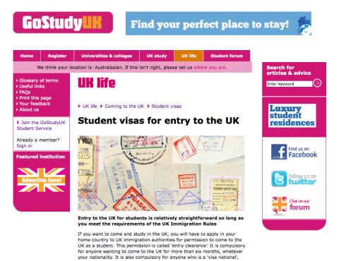GoStudyUK student visas