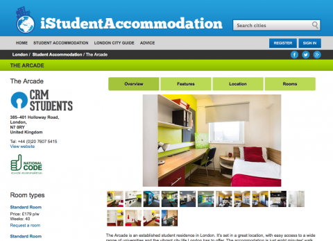 iStudentAccommodation residence overview